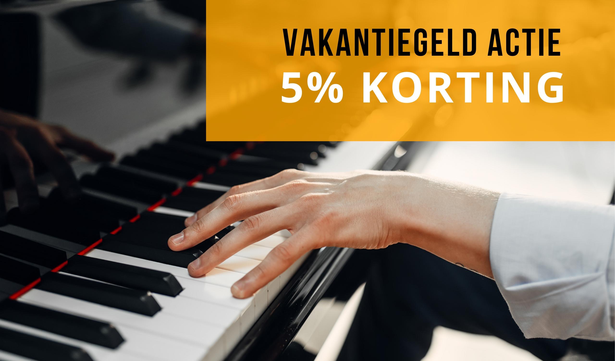 VAKANTIEGELD ACTIE: 5% KORTING OP ALLES